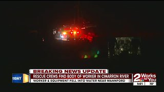 Construction worker's body recovered from Cimarron River