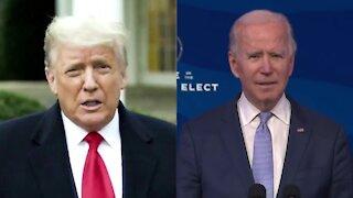 President Trump, President-elect Biden call for peace