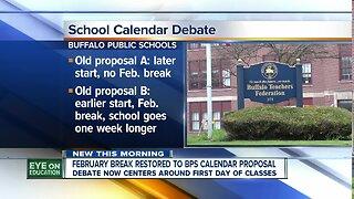 Buffalo Public School officials debating school calendar