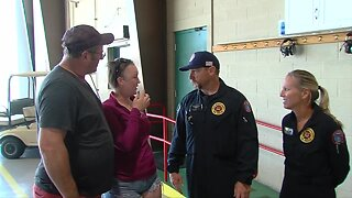 Woman meets Trauma Hawk team that helped save her life