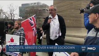 Toronto protesting lockdowns
