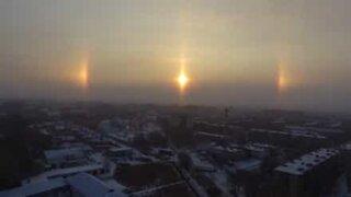 Natural phenomenon creates halo around the sun!