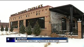 Founders' Detroit Taproom is back open
