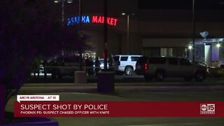 Officer shoots suspect after allegedly threatening to stab people