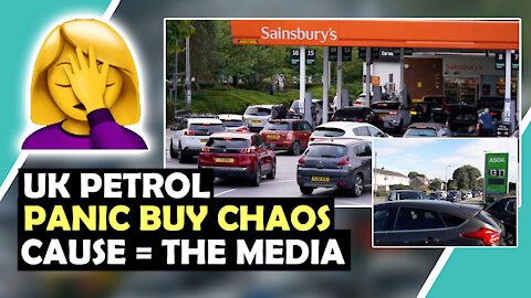 UK PETROL PANIC Buy QUEUES Because MEDIA TOLD THEM SO / Hugo Talks #lockdown