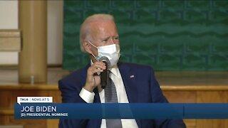 Biden talks with leaders at Kenosha church