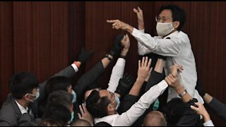 Seven Chinese pro-democratic lawmakers arrested in Hong Kong