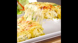 Pasta Rolls with Chicken Alfredo
