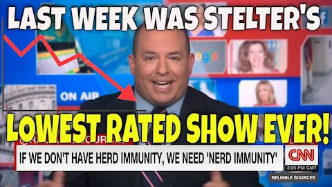 Brian's RATINGS Keep CRASHING: Biden first hundred days DISASTER for Brian Stelter of CNN live
