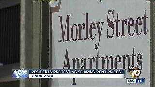 Linda Vista residents protesting soaring rent prices
