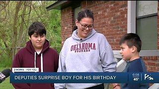 Tulsa County Sheriff Deputies Surprise Boy For His Birthday