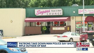 Patrons Take Down Man Police Say Shot Rifle Outside Bar