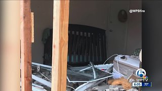 Vehicle crashes into baby's room in West Palm Beach