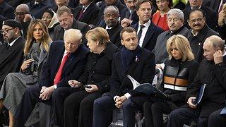 French President Decries Nationalism In Speech Before Trump