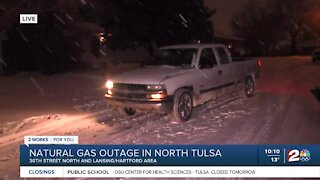 Natural gas outage in north Tulsa