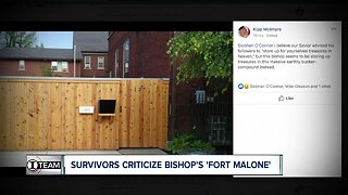Survivors criticize Bishop's 'Fort Malone' mansion