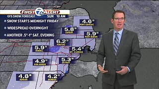 Widespread snow to start the weekend