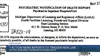 Bill to force investigations of psychiatric deaths passes House, awaits Whitmer's signature