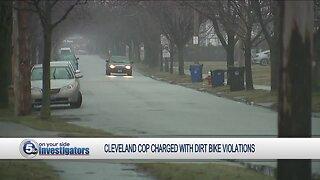 Cleveland police officer arrested for operating dirt bike