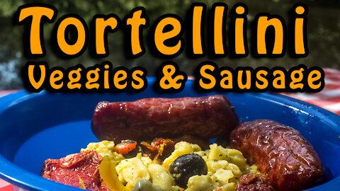 Dutch Oven Tortellini Veggies & Sausage