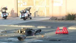 Las Vegas police investigate fatal crash involving truck, moped