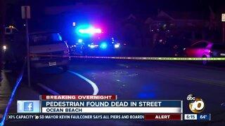 Pedestrian found dead on Ocean Beach street