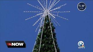 100-foot Christmas tree installation underway in Delray Beach