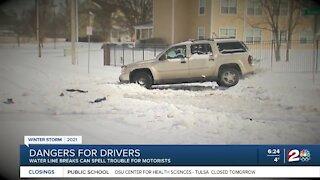 Water line breaks can spell trouble for motorists