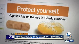 Hepatitis A outbreak in Florida nears 1,500 cases