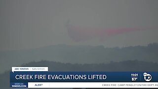 Creek fire evacuations lifted