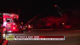 5 people injured in fire at senior apartments in Detroit