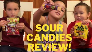 SOUR CANDIES! Kid Candy Review!   Sour Punch, Juicy Drop & more