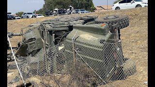 5 Marines hurt in Southern California highway rollover