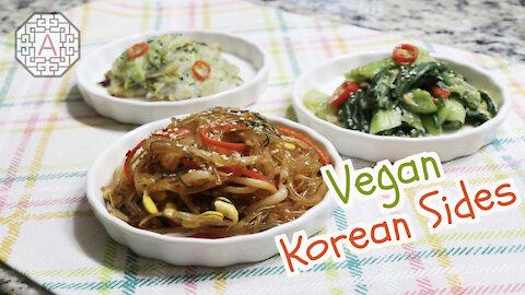 3 Korean Side Dishes Series 13 - Vegan (반찬, BanChan) | Aeri's Kitchen