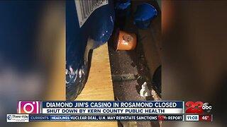 Diamond Jim's Casino closed by health department