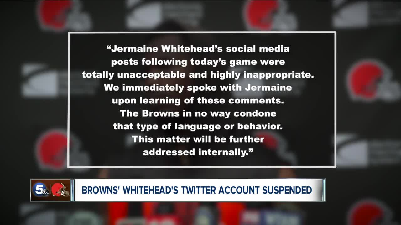 Browns react to Jermaine Whitehead's tweets