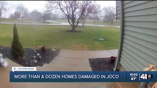 More than a dozen homes damaged in Johnson County
