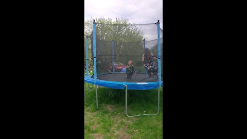 Fun on the trampoline
