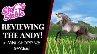 Reviewing The: ANDALUSIAN! + Mini Shopping Spree! Star Stable Quinn Ponylord