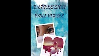 7 Bible verses for DEPRESSION // Scriptures for Depression// Depression Motivation 5 #shorts