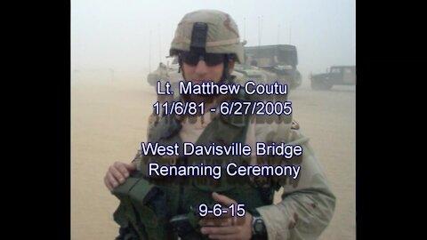 2nd Lt. Matthew S. Coutu Bridge Renaming Ceremony North Kingstown, RI   The Washington Pundit