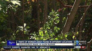 Parts of woman's body found in Glen Burnie