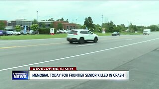 Memorial today for Frontier senior killed in crash