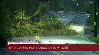KY-9 closed due to landslide in Wilder