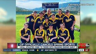 CIF officially cancels spring sports season