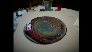 Dry Canvas Acrylic Pour Painting