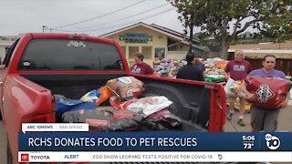 Rancho Coastal Humane donates food to pet rescues
