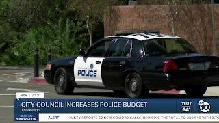 Escondido city council increases police budget