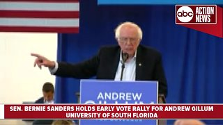 Senator Bernie Sanders holds rally for Andrew Gillum
