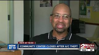 Community center closes after A/C theft